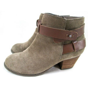 DOLCE VITA Taupe Suede Ankle Boots DV Sz 7